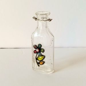Decorative Glass Bottle Handmade Embellished